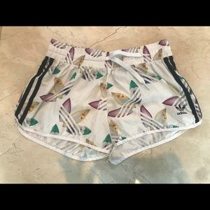 Adidas mini shorts with laces